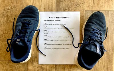 SOP: How to tie your shoes?